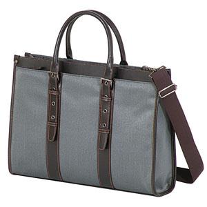女性用ビジネスバッグ グレー 持ち手長さ調整可能ビジネスバッグ